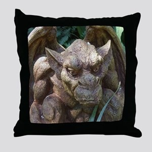 Photo of Gargoyle Statue Throw Pillow