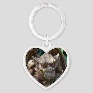 Photo of Gargoyle Statue Heart Keychain