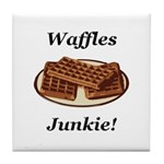 Waffles Junkie Tile Coaster
