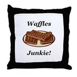 Waffles Junkie Throw Pillow