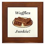 Waffles Junkie Framed Tile