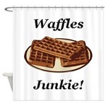 Waffles Junkie Shower Curtain