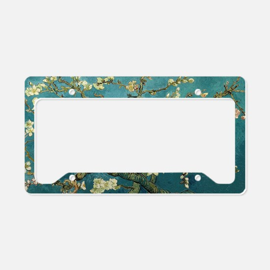 Blossoming Almond Tree, by Vi License Plate Holder