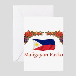 Filipino Maligayan...2 Greeting Cards