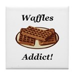 Waffles Addict Tile Coaster