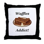 Waffles Addict Throw Pillow
