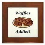 Waffles Addict Framed Tile