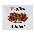 Waffles Addict Throw Blanket