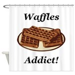 Waffles Addict Shower Curtain
