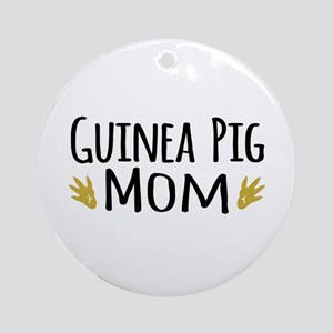 Guinea pig Mom Ornament (Round)