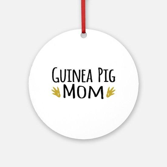 Guinea pig Mom Ornament (Round)