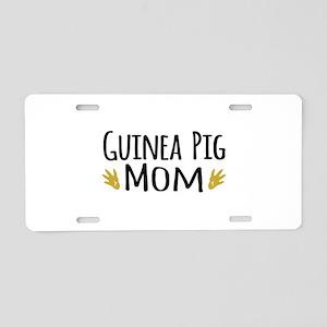 Guinea pig Mom Aluminum License Plate