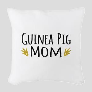 Guinea pig Mom Woven Throw Pillow