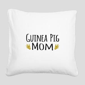 Guinea pig Mom Square Canvas Pillow
