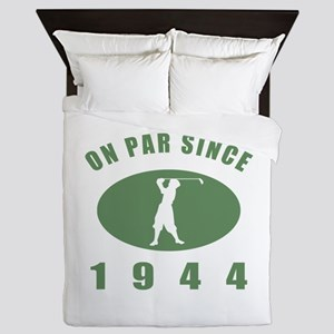 1944 Birthday Golf Queen Duvet