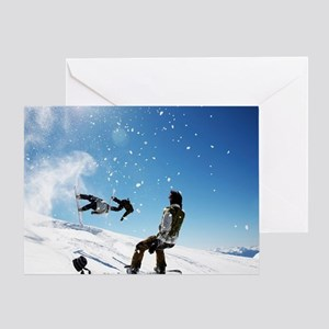 Snowboard is awesome Greeting Card