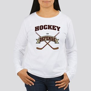 Hockey Defense Women's Long Sleeve T-Shirt