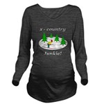 X Country Junkie Long Sleeve Maternity T-Shirt