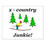 X Country Junkie Small Poster