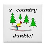 X Country Junkie Tile Coaster