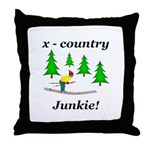 X Country Junkie Throw Pillow