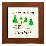 X Country Junkie Framed Tile