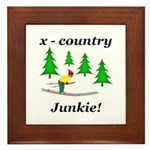 X Country Junkie Framed Tile