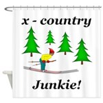 X Country Junkie Shower Curtain