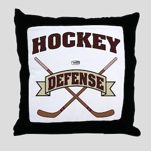 Hockey Defense Throw Pillow