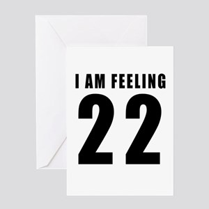 22nd birthday designs greeting cards cafepress