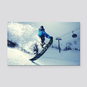 Snowboard extreme Rectangle Car Magnet