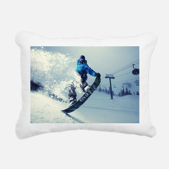 Snowboard extreme Rectangular Canvas Pillow