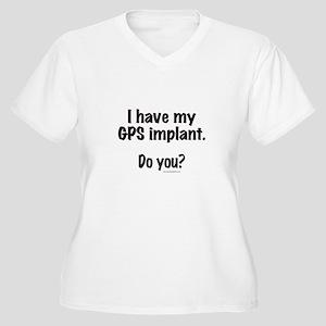 My GPS... Women's Plus Size V-Neck T-Shirt