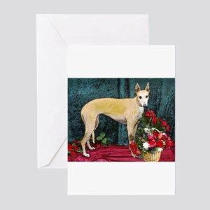 Greyhound Christmas Kaityln Greeting Cards (Packa