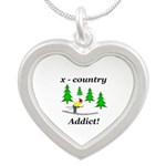X Country Addict Silver Heart Necklace