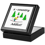 X Country Addict Keepsake Box