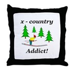 X Country Addict Throw Pillow