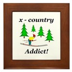 X Country Addict Framed Tile