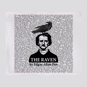 The Raven by Edgar Allan Poe Throw Blanket