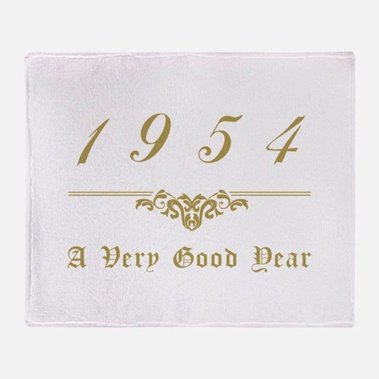 1954 Milestone Year Throw Blanket