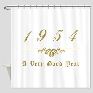 1954 Milestone Year Shower Curtain