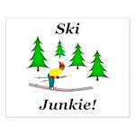 Ski Junkie Small Poster