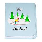 Ski Junkie baby blanket