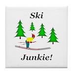 Ski Junkie Tile Coaster