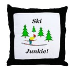 Ski Junkie Throw Pillow