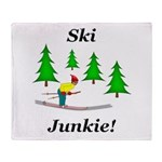 Ski Junkie Throw Blanket