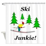 Ski Junkie Shower Curtain
