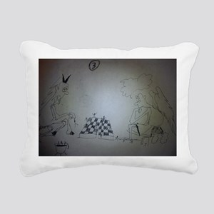 chess game drawing funny Rectangular Canvas Pillow