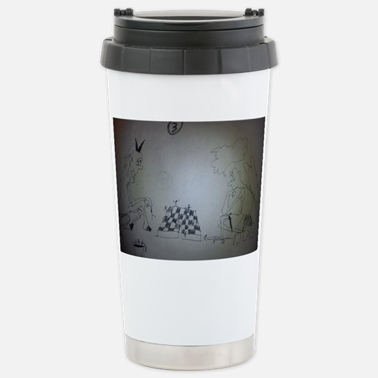 chess game drawing funn Stainless Steel Travel Mug