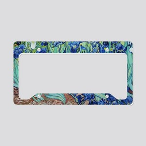 Iris, Vincent van Gogh. Vinta License Plate Holder